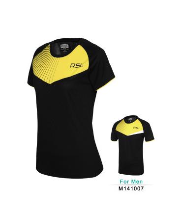 Тенниска RSL w141014 Black/yellow