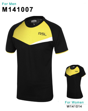 Тенниска RSL m141007 black/yellow